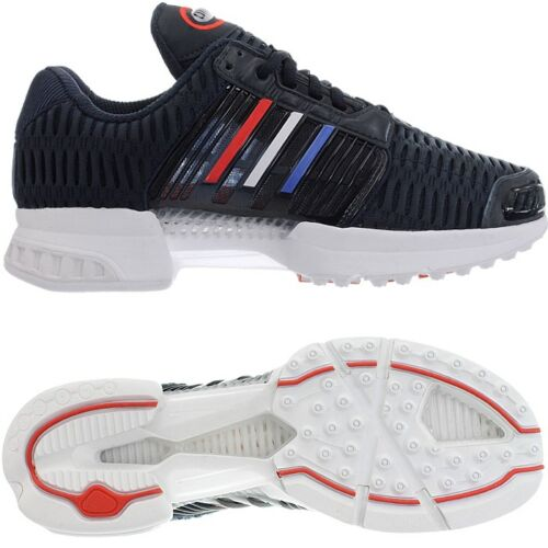 Niños Adidas Azul 1 Gris Negro Zapatillas Hombres Mujeres Zapatillas Climacool Nuevo gw86AS