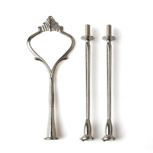 Crown 3 2 Tier Cake Stands Fruit Plate Stand Handle Cake Decorating Tools Set