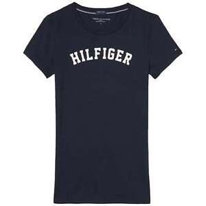 Tommy-Hilfiger-Mujeres-Algodon-Organico-Manga-Corta-Cuello-Redondo-Camiseta-la-Marina