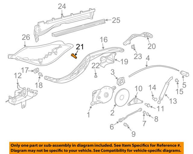 Convertible Top Strut For 97-04 Porsche Boxster HH31T6 Genuine