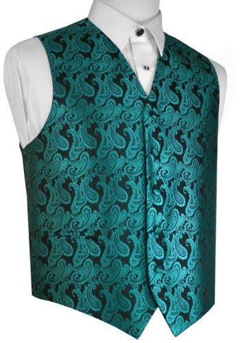 SIZES XS-6XL WEDDING PROM MEN/'S EMERALD PAISLEY FORMAL DRESS TUXEDO VEST