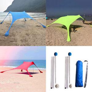 Waterproof-Tent-Tarp-Canopy-Camping-Beach-Sun-Shelter-Sunshade-UV-Protection