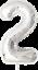 40-034-numero-gigante-foil-aria-elio-Glitz-grandi-PALLONCINI-Festa-Di-Compleanno-Matrimonio miniatura 43