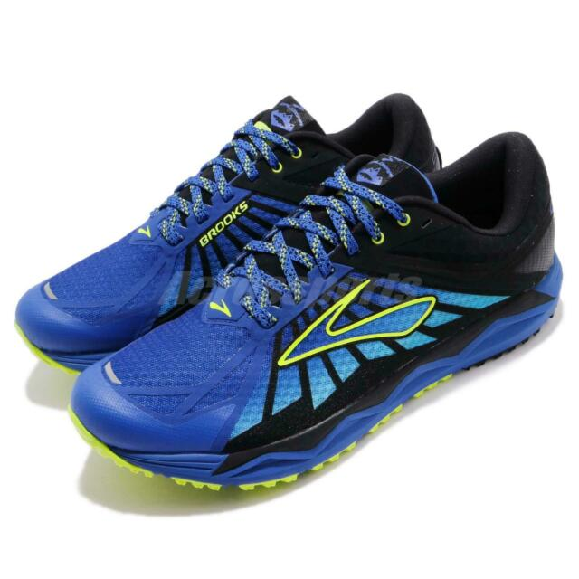 2a53fbf2cf867 Brooks Caldera Blue Lime Black Men Trail Running Shoes Sneakers 110242 1D