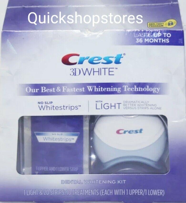 Crest 3d White Whitestrips With Light Teeth Whitening Kit For Sale