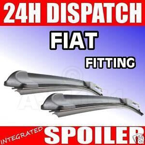 Aero-Flat-Wiper-Blades-NEW-Fiat-Punto-Mk2-amp-Stilo-RETRO