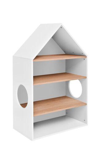 Häuschen Regal Holz Bücherregal Standregal Kinderregal Aufbewahrungsregal Homey