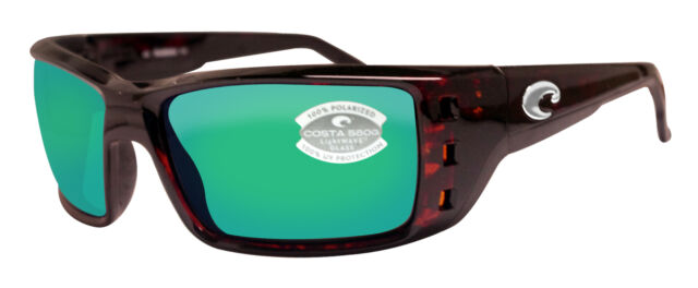 acbfbeea12 Costa Del Mar Permit Tortoise Frame Green Mirror 580G Glass Polarized Lens