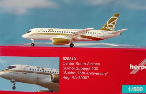 Herpa Wings 1:500 Center South Airlines Sukhoi Superjet 100 75th Anniverary