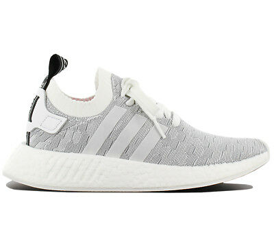 the latest 7dd23 8c336 adidas Originals NMD R2 PK W Primeknit Boost Grey Pink Women Running Shoe  By9520 7   eBay