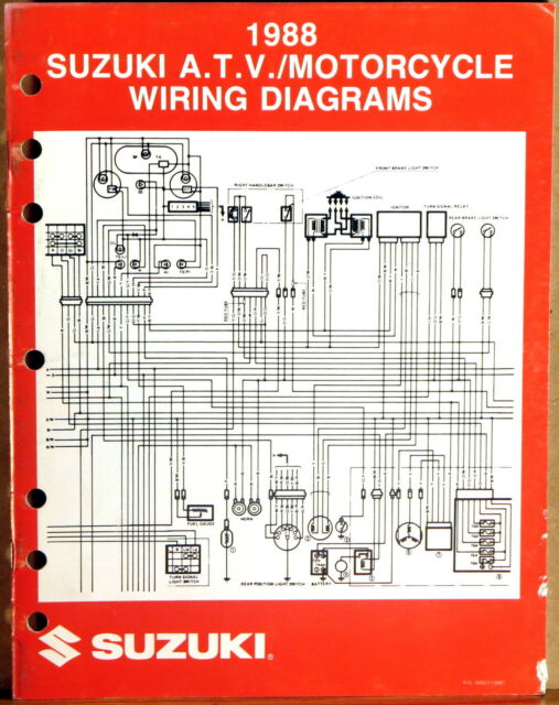 SUZUKI SERVICE MANUAL Motorcycle & ATV Wiring Diagrams ...