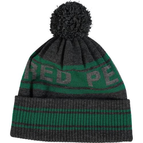 Authentic FRED PERRY UOMO grigio e verde 100/% Lana Cappello Beanie-Taglia unica