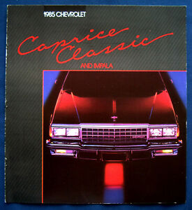 Prospekt-brochure-1985-Chevrolet-Chevy-Caprice-Classic-and-Impala-USA