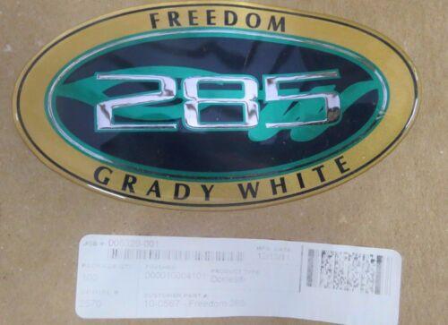 NEW OEM GRADY WHITE 285 FREEDOM HULL NAME DECAL #10-0567