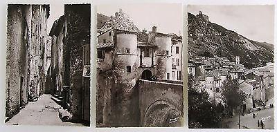 3x Entrevaux S/w Frankreich Postkarten Lot ~1950/60 France Postcards Ungelaufen