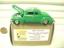 Racing Champions 2012 49th BARNESVILLE OH PUMPKIN FEST Green 1940 Ford Coupe MB