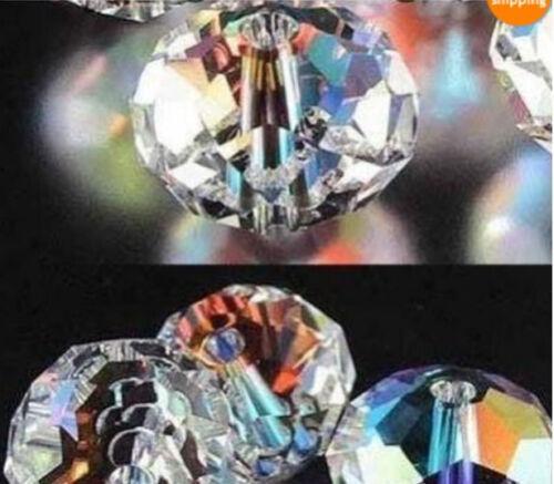 70pcs 10mm White Multicolor Crystal Loose Bead AA2236