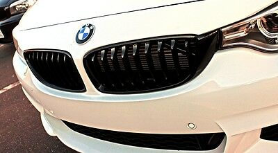 F32 M Performance black kidney grill BMW 4 Series Coupe LEFT