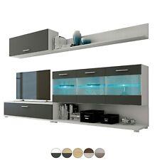 Composición mueble de comedor o salon, color Andersen Pino y Gris, Zafiro