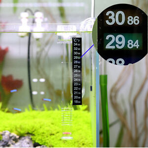 how to read stick on fish tank thermometer