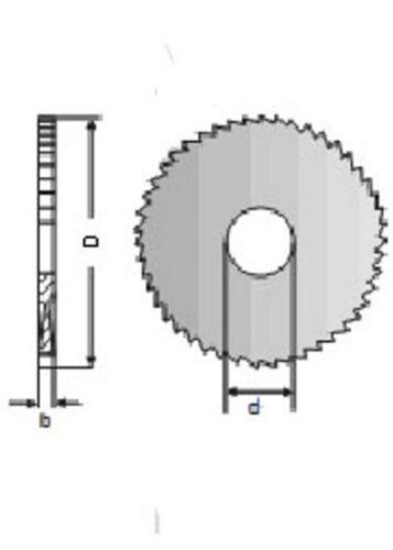 2 pcs HSS Circular Millings Cutters  80-2,5-22 mm.