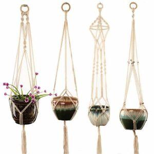 Straightforward Modern Boho Macrame Plant Hanger Flower Pot Holder Handcraft Home Decor Garden Supplies