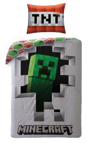 135 Minecraft  Bettwäsche  140 x 200 Kinderbettwäsche Set