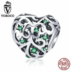 VOROCO-925-Sterling-Silver-Unique-Charm-Beads-Tree-Of-Life-Charms-Fit-Bracelet