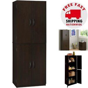 Image Is Loading Kitchen Pantry Cabinet Storage Wood Tall Organizer Adjule