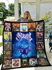 ghost-swedish-band-quilt-Fleece-blanket