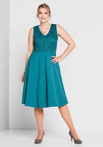 Kleid-Gr-52-58-Abendkleid-Sheego-festlich-Damen-knielang-Spitzenkleid-Cocktailkl