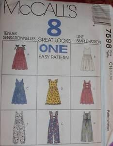 7598-Vintage-McCalls-SEWING-Pattern-Little-Girls-Jumper-Jumpsuit-UNCUT-Spring