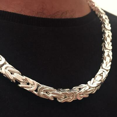 925 Sterlingsilber MASSIV vierkant Königskette echt Silber Hals kette 65 cm