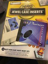 Fellowes 99946 Neato Standard Jewel Case Inserts Matte Non Glare White 10 Onl