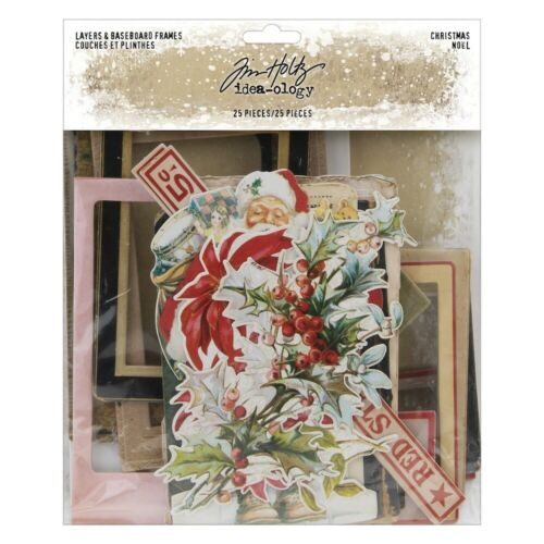 NEW Tim Holtz Idea-ology Christmas Layers and Baseboard Frames