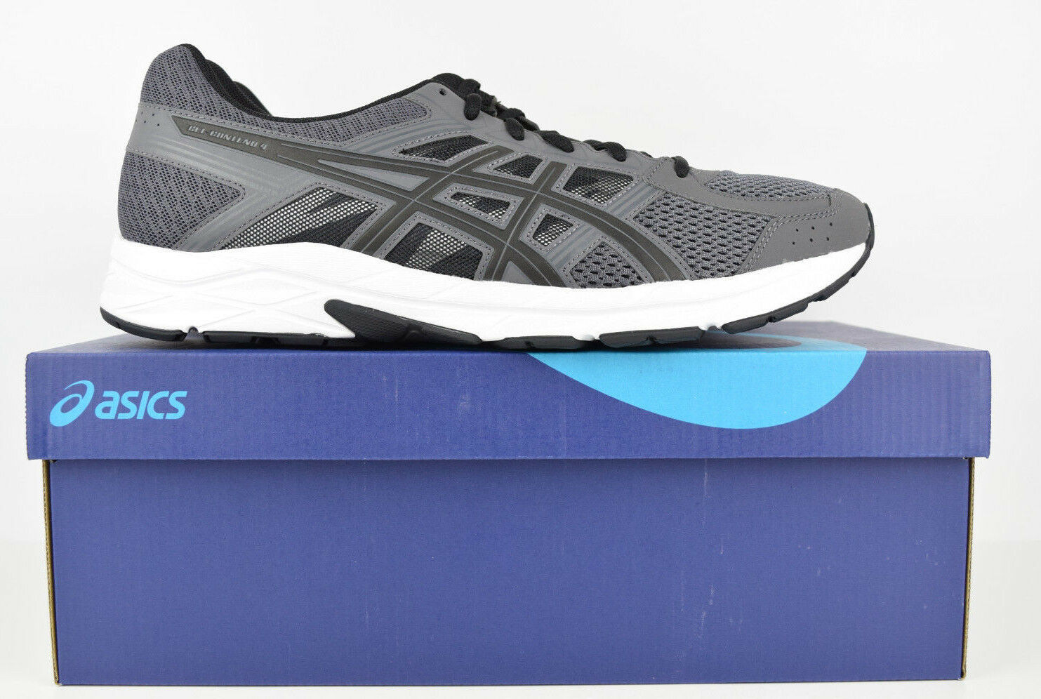 Asics Mens GEL Contend 4 Walking Fitness Trainer Running shoes Grey Size 12.5