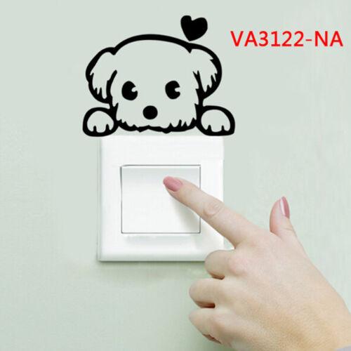 Dog cat switch sticker wall sticker bathroom toilet kitchen home decal DIY HICA