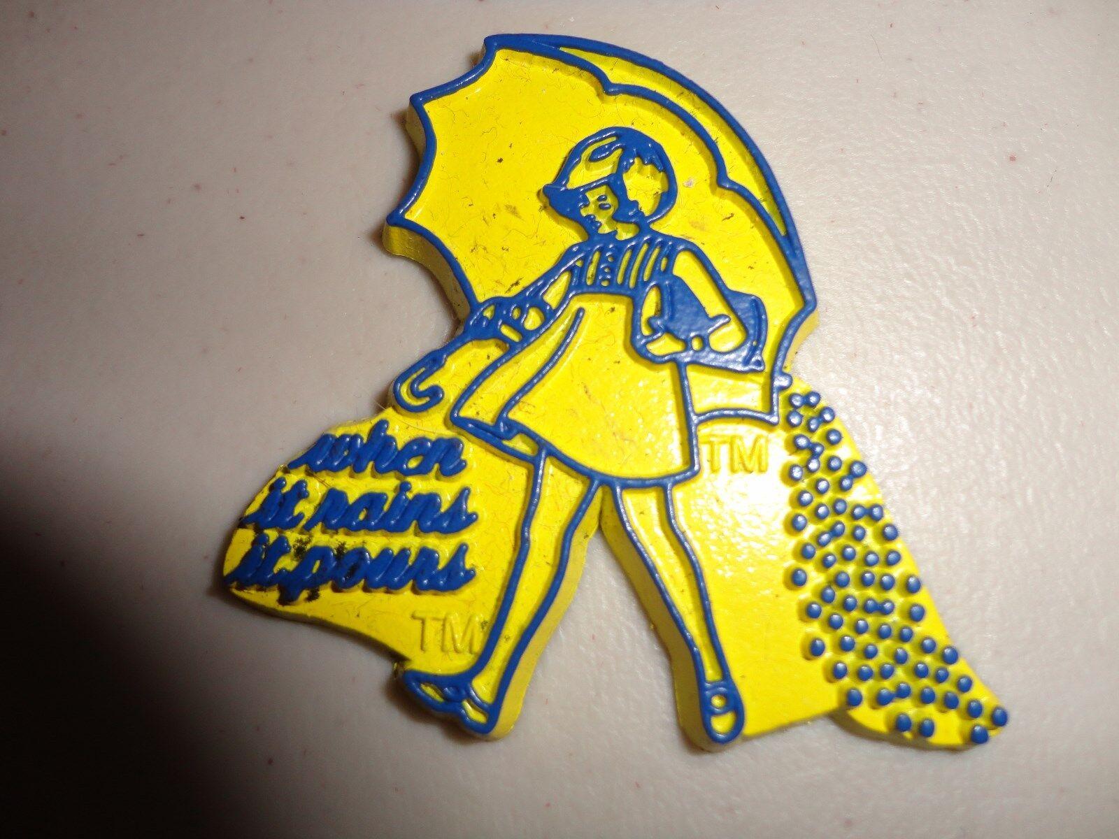 Morton Salt When It Rains It Pours Rubber Magnet, Souvenir, Travel,  Refrigerator