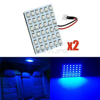 1x T10 /& Festoon 36-SMD Ultra Blue LED Panel Interior Dome Map Replacement Light