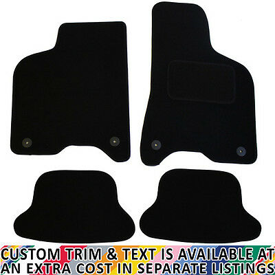 Volkwagen VW Lupo 1999-2005 Fully Tailored 4 Piece Rubber Car Mat Set 2 Clips