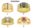 Personalized Sterling Silver Gold Plated Family Ring Mother Birthstone Any Name