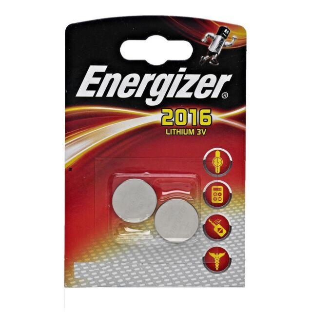 2 Piles Energizer Lithium CR2016 3 V