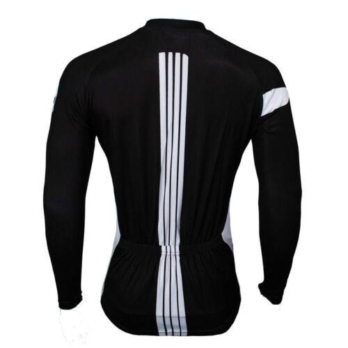 Punisher Men/'s Padded Cycling Tights Long Sleeve Jersey Bike Clothing Kit Black