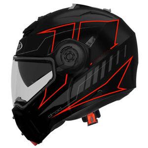 Casco-de-moto-modular-CABERG-DROID-Blaze-Matt-Black-Red-Pinlock-antivaho