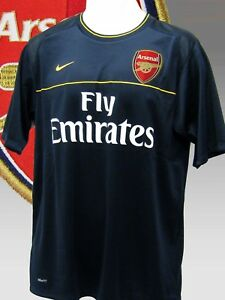 Nike-Arsenal-da-Calcio-Pre-Partita-Maglietta-Emirates-Blu-Navy-MEDIUM-M