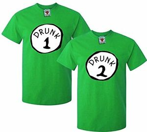 Men's Drunk One, Drunk Two T-Shirts (Two Pack) - FUNNY IRELAND DRINK GIFT JOKE