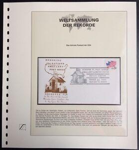 USA 1992 the smallest post office in USA Gedenkbrief Weltsammlung der Rekorde - <span itemprop='availableAtOrFrom'>Königs Wusterhausen, Deutschland</span> - USA 1992 the smallest post office in USA Gedenkbrief Weltsammlung der Rekorde - Königs Wusterhausen, Deutschland