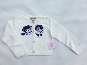 Juicy-Couture-Kids-Baby-White-Cardigan-With-Flowers-Size-18-24-M