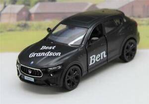 PERSONALISED NAME Gift Best Grandson Black Maserati Boys Toy Model Boxed Present
