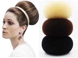 Details About Salon 1x 18cm Extra Large Hair Donut Bun Maker Hot Buns Hair Styling Accessories